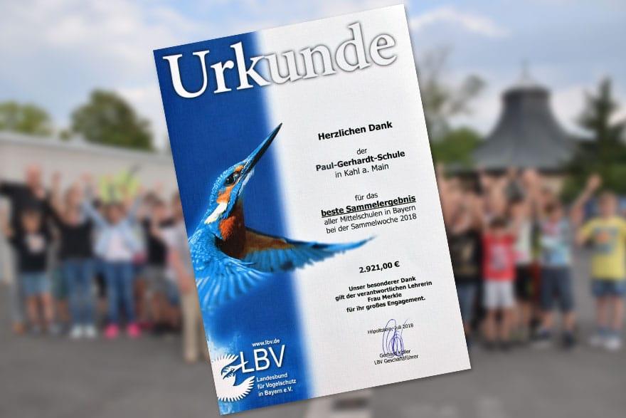 """Im Regierungsbezirk Unterfranken und in der Kategorie """"Mittelschule"""" lag die Paul-Gerhardt-Schule Kahl ganz vorne."""